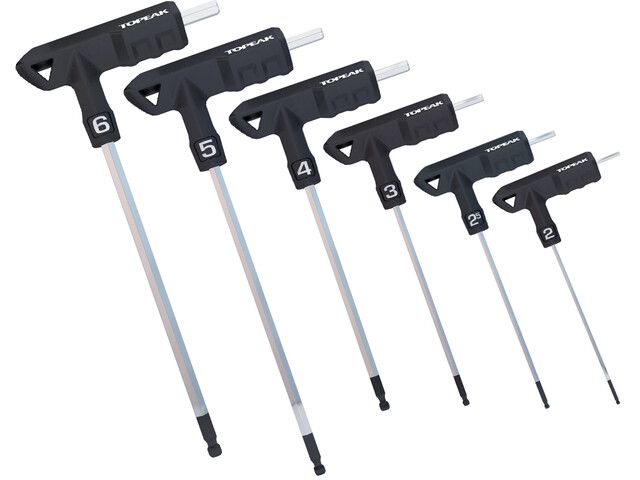 Topeak T-Handle DuroHex Wrench Set 2/2,5/3/4/5/6 mm